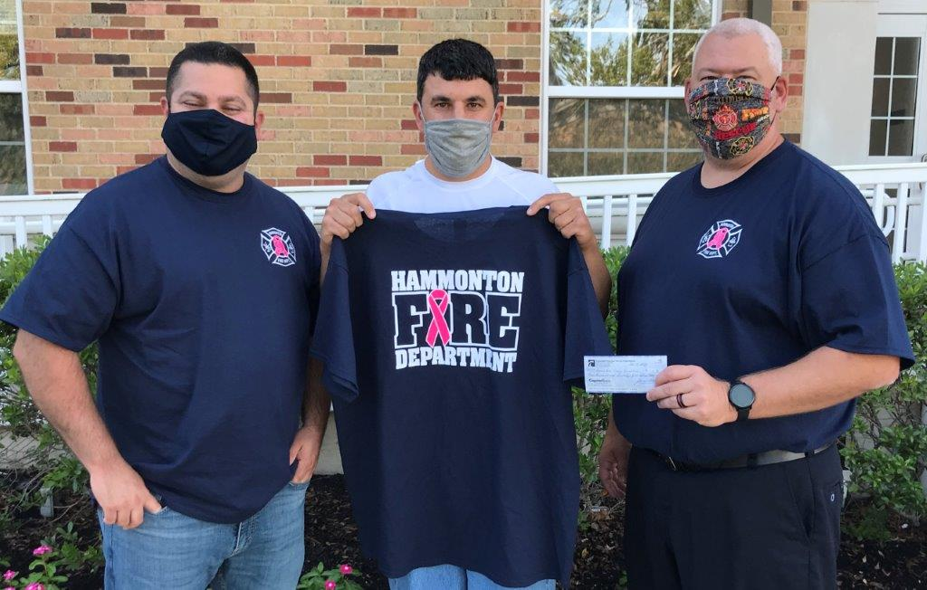Hammonton Fire Companies Donate Monies to Support Breast Cancer