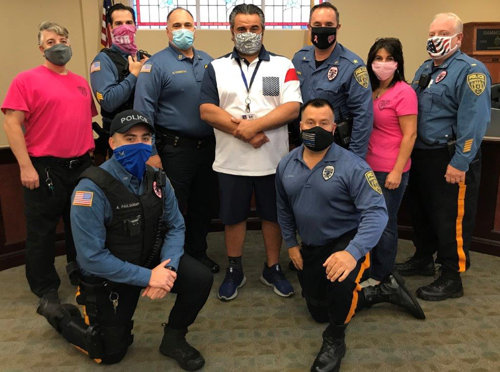 Hammonton Police Honors Breast Cancer Awareness
